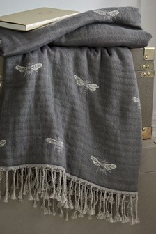 Sophie Allport Bee Graphite Throw