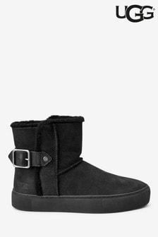 UGG® Aika Black Buckle Ankle Boots
