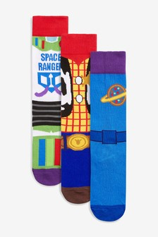 Toy Story Outfit Pattern Socks Three Pack