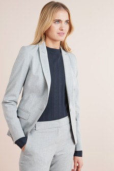 Tailored Fit Single Breasted Suit Jacket