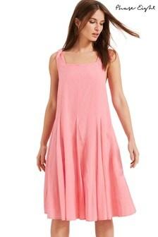 Phase Eight Pink Callie Cotton Dress