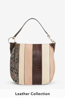 Leather Ring Detail Hobo