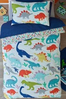 """Dinosaur Dreams"" Set aus Bettbezug und Kissenbezug mit Dino"