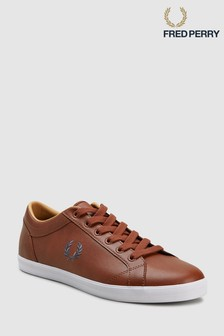 Fred Perry Tan Baseline Leather Trainers