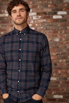Long Sleeve Flannel Check Shirt