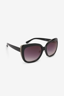 Metal Lined Glam Sunglasses