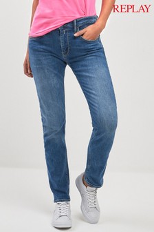 Replay® Jacksy Straight Fit Jeans, mittlere Waschung