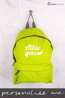 Personalised Green Backpack by Loveabode