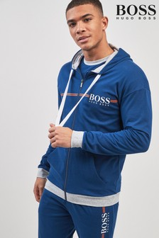 BOSS Blue Zip Through Hoody