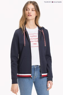 Tommy Hilfiger Blue Trisha Logo Zip Through Hoody