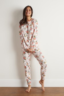Floral Long Sleeve Cotton Pyjamas