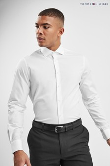 Tommy Hilfiger White Tailored Core Stretch Poplin Shirt
