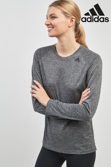adidas Grey Alphaskin Long Sleeved Tee