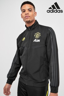 adidas Black Manchester United Pre Match Jacket