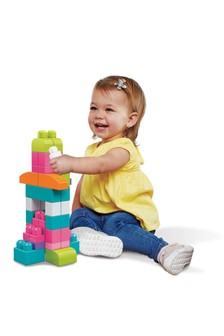 Mega Bloks First Builders 60 Piece Pink Building Bag