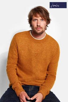 Joules Yellow Marl Fluffy Crew Jumper