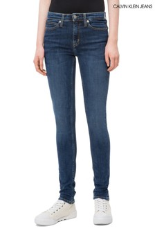 Calvin Klein Jeans Blue Mid Rise Skinny Jean