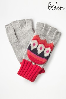 Boden Grey Fairisle Pattern Glove
