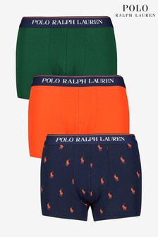 Polo Ralph Lauren Pony And Plain Trunks Three Pack