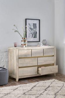 Amsterdam Light 7 Drawer Wide Chest