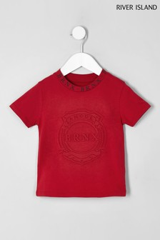 River Island Red Embossed Tee