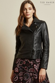 Ted Baker Black Leather Jacket
