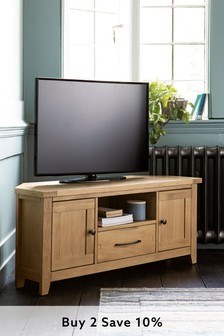 Thornley Oak Corner TV Unit