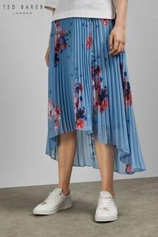 Ted Baker Light Blue Pleated Skirt