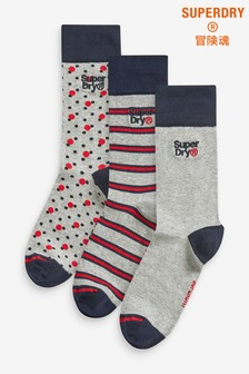 Superdry Multi Socks Three Pack