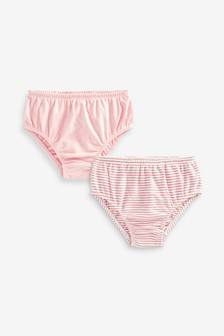 2 Pack Jersey Frill Knickers (0mths-2yrs)