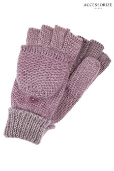 Accessorize Pink Ombre Spacedye Capped Glove