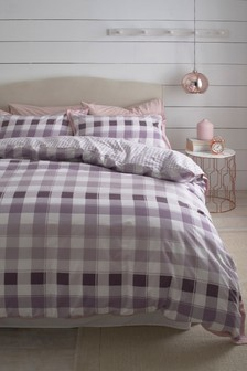 Gingham Check Duvet Cover and Pillowcase Set