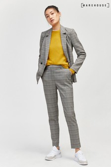 Warehouse Grey Check Slim Leg Trouser