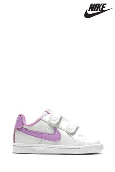 Nike White/Purple Court Royale Infant