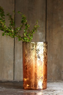 Ginger Ombre Metallic Vase