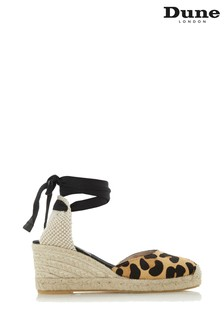 Dune London Animal Ankle Tie Two Part Wedge