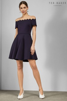 Ted Baker Blue Scallop Dress