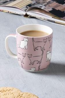 Cat Print Mug