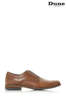Dune London Tan Brogue Detail Gibson Shoe