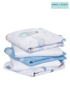 aden + anais™ Essentials Space Explorers 5 Pack Cotton Muslin Squares