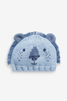 Lion Knitted Hat (0mths-2yrs)