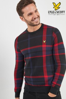 Lyle & Scott Navy Tartan Check Jumper