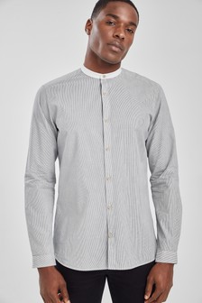 Stripe Grandad Shirt