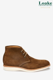 Loake Tan Suede Python Boot