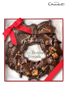 The Large Festive Wreath Cookie by Hotel Chocolat