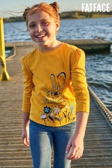 FatFace Yellow Bunny Graphic T-Shirt