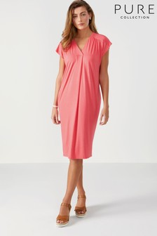 Pure Collection Jersey V-Neck Relaxed Dress