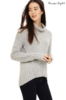 Phase Eight Grey Saverine Exposed Seam Jumper