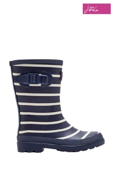 Joules Navy Stripe Printed Welly