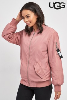 UGG® Frances Pink Dawn Oversized Bomber Jacket